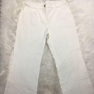 St. John Caviar Women Pants size 8 White jeans